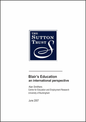 Blair's Education: An International Perspective Report