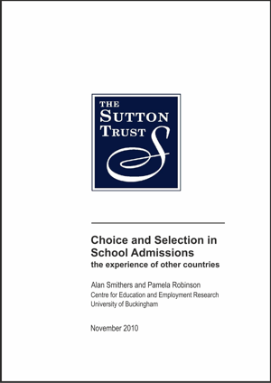 Choice And Selection In School Admissions: The Experience of Other Countries Report
