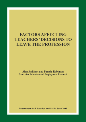 Factors Affecting Teachers' Decisions to Leave the Profession Report
