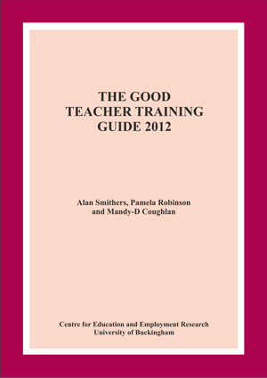 The Good Teacher Training Guide 2012 Annual Report