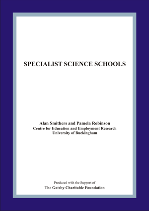 Specialist Science Schools Report