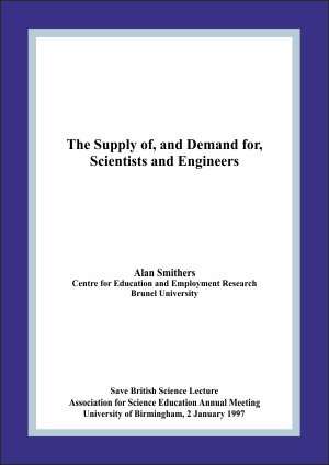 The Supply of, and Demand for, Scienctists and Engineers Report