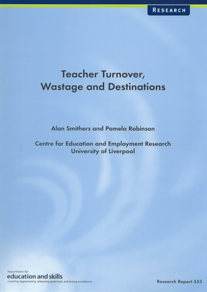Teacher Turnover, Wastage and Destinations Report