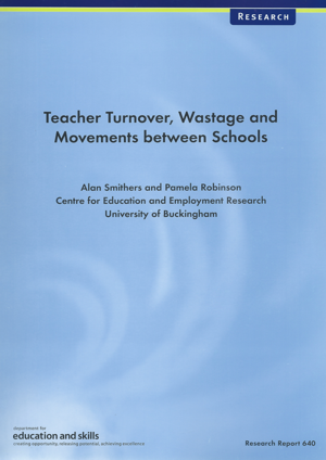 Teacher Turnover, Wastage and Movements between Schools Report