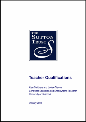 Teacher Qualifications Report