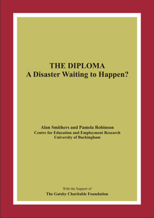 The Diploma A Disaster Waiting to Happen? Report