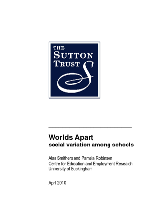 Worlds Apart: Social Variation Among Schools Report