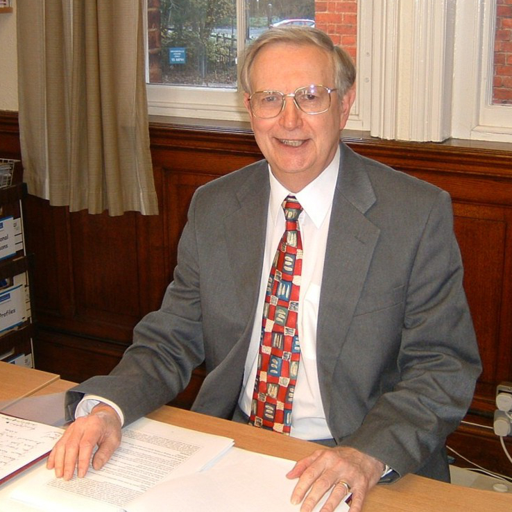 Professor Alan Smithers at his desk