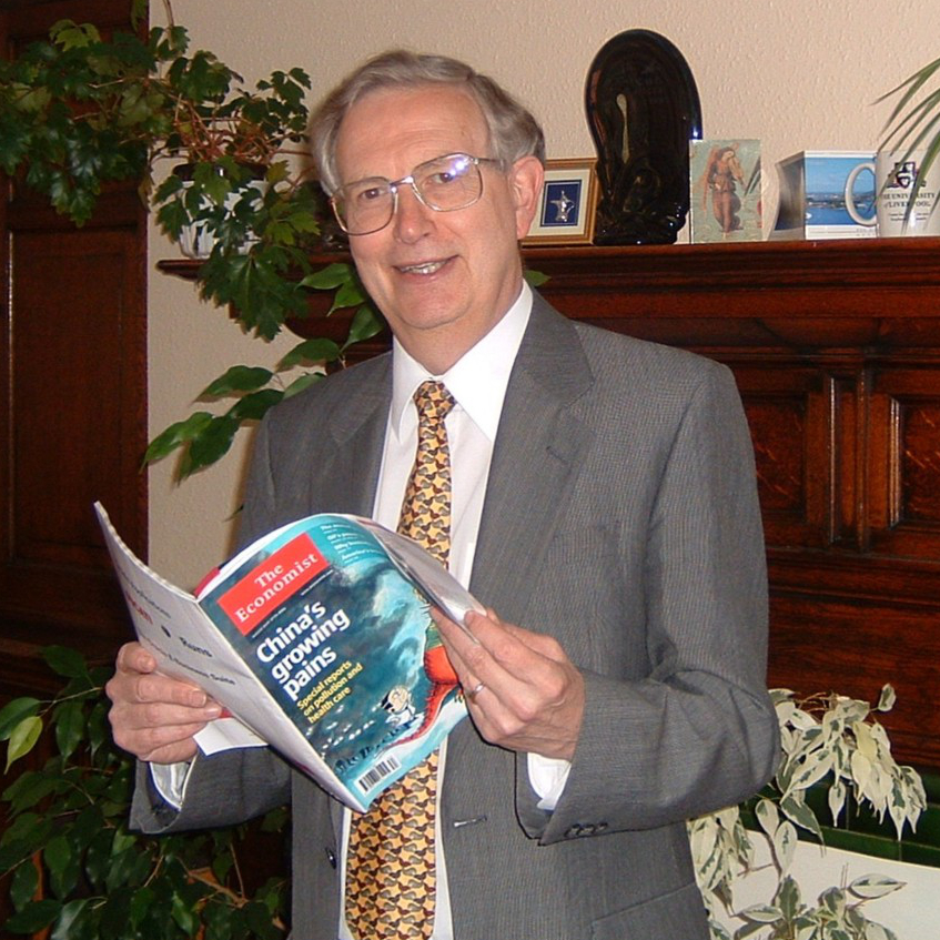 Professor Alan Smithers reading in his office