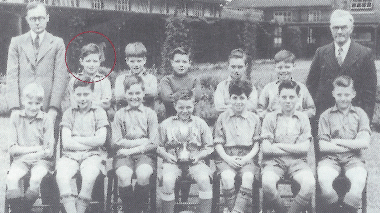 Every Child in Britain Photograph of school children with Prof Smithers highlighted